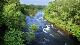石狩川に注ぐ尾白利加川